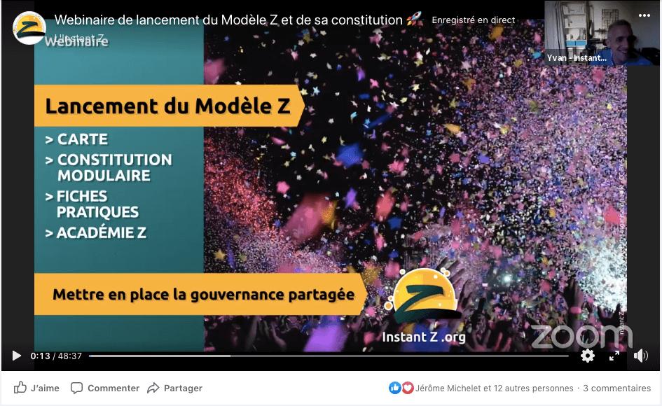 Webinaire lancement Modèle Z - Instant Z - gouvernance partagée